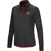 Colosseum Women's Iowa State Cyclones Shark Quarter-Zip Black Shirt