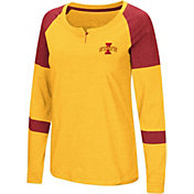 Colosseum Women's Iowa State Cyclones Gold Dorothy Long Sleeve Raglan T-Shirt