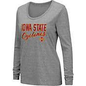 Colosseum Women's Iowa State Cyclones Grey Tri-Blend Long Sleeve T-Shirt