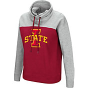 Colosseum Women's Iowa State Cyclones Cardinal/Grey The Talk Funnel-Neck Pullover