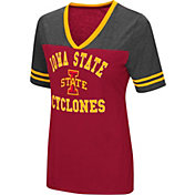 Colosseum Women's Iowa State Cyclones Cardinal/Grey The Whole Package T-Shirt