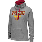 Colosseum Women's Iowa State Cyclones Grey Funnel-Neck Pullover Sweatshirt