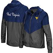 Colosseum Women's West Virginia Mountaineers Blue/Grey First Class Windbreaker Jacket