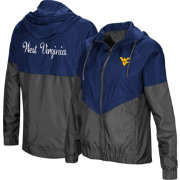 Colosseum Women's West Virginia Mountaineers Blue/Grey First Class Windbreaker Jacket