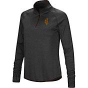 Colosseum Women's Wyoming Cowboys Shark Quarter-Zip Black Shirt