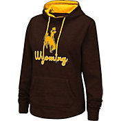 Colosseum Women's Wyoming Cowboys Brown Pullover Hoodie