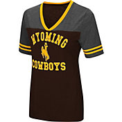 Colosseum Women's Wyoming Cowboys Brown/Grey The Whole Package T-Shirt