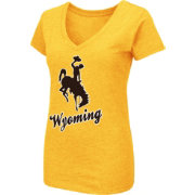 Colosseum Women's Wyoming Cowboys Navy Dual Blend V-Neck T-Shirt