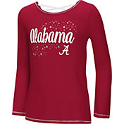 Colosseum Youth Girls' Alabama Crimson Tide Crimson Camber Long Sleeve T-Shirt