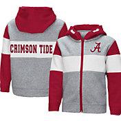 Colosseum Toddler Boys' Alabama Crimson Tide Grey Snowplough Full-Zip Hoodie