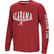 Colosseum Youth Alabama Crimson Tide Crimson Spike Long Sleeve T-Shirt