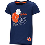 Colosseum Toddler Girls' Auburn Tigers Blue Whoo! Whoo! T-Shirt
