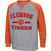 Colosseum Youth Clemson Tigers Grey/Orange Rudy Zoleteck Fleece Sweatshirt
