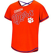 Colosseum Youth Girls' Clemson Tigers Orange Little Giants Dolman T-Shirt