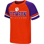 Colosseum Youth Clemson Tigers Orange/Regalia Rad Tad Raglan T-Shirt