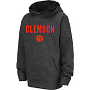 Colosseum Youth Clemson Tigers Grey Pullover Hoodie
