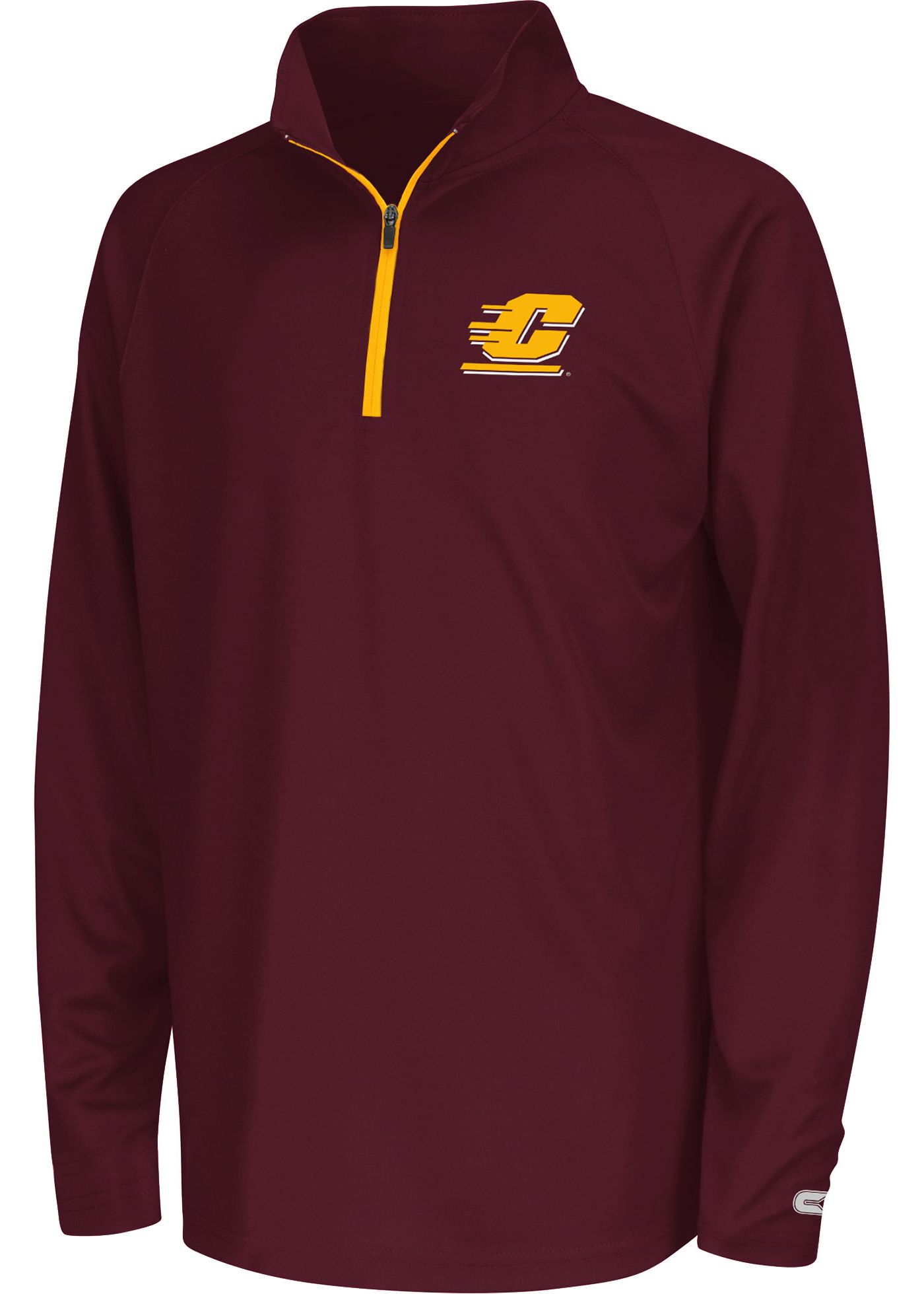 Colosseum Youth Central Michigan Chippewas Maroon Draft Quarter-Zip Shirt