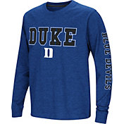 Colosseum Youth Duke Blue Devils Duke Blue Spike Long Sleeve T-Shirt