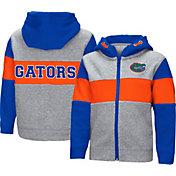 Colosseum Toddler Boys' Florida Gators Grey Snowplough Full-Zip Hoodie
