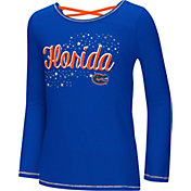 Colosseum Youth Girls' Florida Gators Blue Camber Long Sleeve T-Shirt