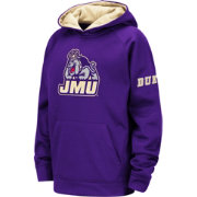 Colosseum Youth James Madison Dukes Purple Fleece Pullover Hoodie