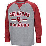 Colosseum Youth Oklahoma Sooners Grey/Crimson Rudy Zoleteck Fleece Sweatshirt