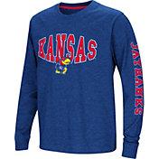 Colosseum Youth Kansas Jayhawks Blue Spike Long Sleeve T-Shirt