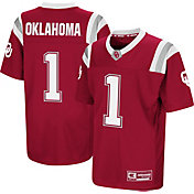 Colosseum Youth Oklahoma Sooners Crimson Foos-Ball Football Jersey