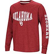 Colosseum Youth Oklahoma Sooners Crimson Spike Long Sleeve T-Shirt