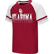 Colosseum Youth Oklahoma Sooners Crimson/Cream Rad Tad Raglan T-Shirt