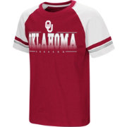 Colosseum Youth Oklahoma Sooners Crimson/Cream Rad Tad Raglan T-Shirt