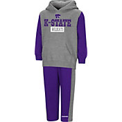 Colosseum Toddler Boys' Kansas State Wildcats Grey/Purple Back To Second Grade Fleece Set