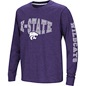 Colosseum Youth Kansas State Wildcats Purple Spike Long Sleeve T-Shirt