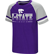 Colosseum Youth Kansas State Wildcats Purple/Silver Rad Tad Raglan T-Shirt