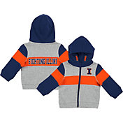 Colosseum Infant Boys' Illinois Fighting Illini Grey Snowplough Full-Zip Hoodie