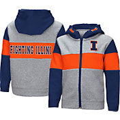 Colosseum Toddler Boys' Illinois Fighting Illini Grey Snowplough Full-Zip Hoodie