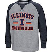 Colosseum Youth Illinois Fighting Illini Grey/Blue Rudy Zoleteck Fleece Sweatshirt