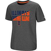 Colosseum Youth Illinois Fighting Illini Grey Junior T-Shirt