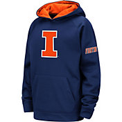 Colosseum Youth Illinois Fighting Illini Blue Pullover Hoodie