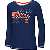 Colosseum Youth Girls' Illinois Fighting Illini Blue Camber Long Sleeve T-Shirt