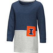 Colosseum Youth Girls' Illinois Fighting Illini Blue/Grey Twizzle Dress