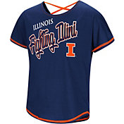 Colosseum Youth Girls' Illinois Fighting Illini Blue Little Giants Dolman T-Shirt