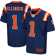 Colosseum Youth Illinois Fighting Illini Blue Foos-Ball Football Jersey
