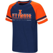 Colosseum Youth Illinois Fighting Illini Blue/Orange Rad Tad Raglan T-Shirt