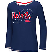 Colosseum Youth Girls' Ole Miss Rebels Blue Camber Long Sleeve T-Shirt
