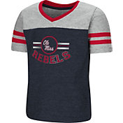 Colosseum Toddler Girls' Ole Miss Rebels Blue/Grey Pee Wee Football T-Shirt