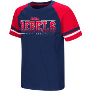 Colosseum Youth Ole Miss Rebels Blue/Red Rad Tad Raglan T-Shirt