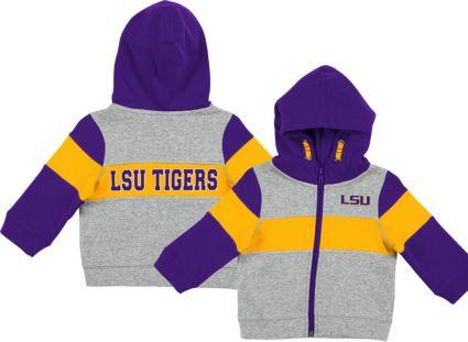 Colosseum Infant Boys' LSU Tigers Grey Snowplough Full-Zip Hoodie