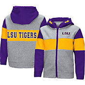 Colosseum Toddler Boys' LSU Tigers Grey Snowplough Full-Zip Hoodie