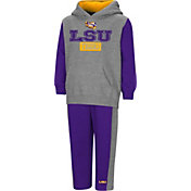 Colosseum Toddler Boys' LSU Tigers Grey/Purple Back To Second Grade Fleece Set